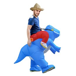 Trajes de animales inflables online-Funny Animal Shape Inflatable Clothing Halloween Costume Toys Vestido de lujo para entretenimiento Fan Operated Sumo Interactive Game 75zr W