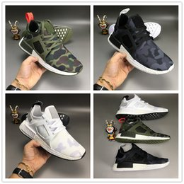 Wholesale Rubber Duck Shoes Sale - 2018 Cheap Sale NMD XR1 Boost Fall Olive Duck Camo Green Navy Blue White Running Shoes for Women Men NMDs Fashion Casual Sneakers Size 36-45