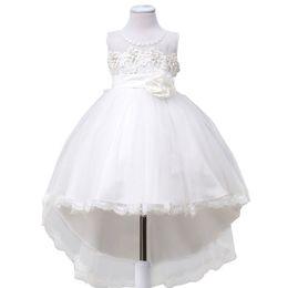 Wholesale toddler girl bridesmaid dresses - Flower Girl Dress Children Bridesmaid Toddler Elegant Dress Pageant Wedding Bridal Dress