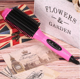 Wholesale High Curly Hair - 2018 High-quality hand straight straight hair comb comb straight hairs curly Hair Brushes hairs comb mini hair straightener artifact 0204016