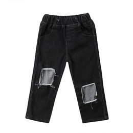 Детские джинсы для мальчиков девочки онлайн-Kids Baby Girls Toddler Boys Clothing Pants Trousers Kid Denim Jeans Pants Casual Clothes Girl 2-7T