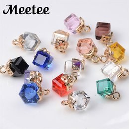Wholesale Rhinestone Buckles For Invitations - 20Pcs Retro Rhinestone Buttons For Clothes Shirt Decoration DIY Square Crystal Buckle Wedding Invitation Card Sewing Accessories