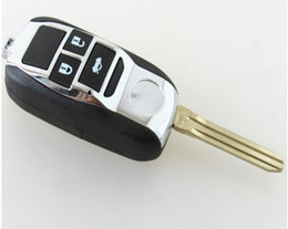 Wholesale Key For Toyota Corolla - KL117 Replacement Remodel Case Flip Folding Remote Chrome car Key Shell Fob For Toyota Camry Avalon Corolla 3 Buttons