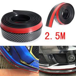 Wholesale Universal Spoilers - Universal 2.5M Carbon Fiber Effect Car Front Bumper Spoiler Splitter Rubber Lip