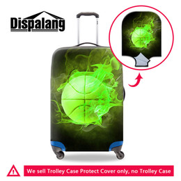 Wholesale Cheap Bags For Men - Coolest Luggage Covers for Men Covers Apply to Travel Suitcases Print Basketball Pattern on luggage bag Cheap Name Branded Case Covers