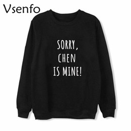 Wholesale Exo K - Vsenfo EXO Members K-Pop Sweatshirt Men Women Letters Printed BAEKHYUN CHANYEOL CHEN DO KAI LAY SEHUN Hoodies Streetwear