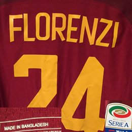 Wholesale Holiday Patterns - 2018 Serie A Match Worn Player Issue Totti Dzeko Perotti El Shaarawy DZEKO Florenzi Soccer Patch Badge Fabric and Sewing