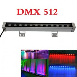 Wholesale dmx led light bar - DMX 512 RGB LED Wall Washer light 24V 12W led floodlight IP65 outdoor lighting For Bar Lighting