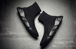 Wholesale White Fur Socks - Bale&#78ciaga Speed Trainer Boots Socks Stretch-Knit High Top Trainer Shoes Cheap Sneaker Black White Woman Man Couples Shoes Casual Boots