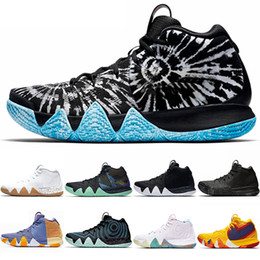 new style 362ae 9f480 Kyrie Irving 4 4s Männer Basketball-Schuhe Uncle Drew Triple Schwarzes Oreo  70s 80s 90s Mamba Mentality Roter Teppich Sport Sneaker 7-12 Freeshipping