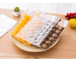 Wholesale plastic ice cubes - Disposable Ice Cube Bags 10Pcs Frozen Juice Liquid Clear Sealed Pack Party Bar BBQ Ice Cream Model Ice Cube Tray Mold