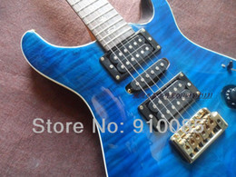 Wholesale music strings - Best Price Music Instrument Limited Edition Custom 24 Ltd.Blue Maple Tiger Top Electric Guitar Free Shipping