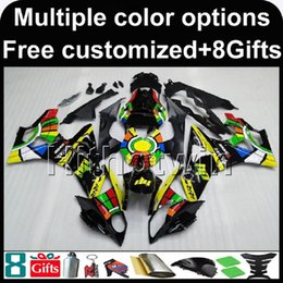 Wholesale Bmw Bodywork - 23colors+8Gifts YELLOW BLACK ABS bodywork kit motorcycle Fairing For BMW S1000RR 09-15 2009 2010 2011 2012 2013 2014 2015