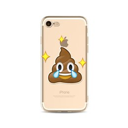 emoji iphone Promo Codes - Emoji Phone Cases TPU Shockproof iphone Case Soft Cute Cartoon Ultra Thin Cover For iphone X 8 8P 7 7P Samsung Smartphone