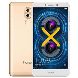 Huawei 5.5 32gb онлайн-Восстановленный Оригинал Huawei Honor 6X 5.5 inch Octa Core 3GB RAM 32GB ROM двойная задняя камера отпечатков пальцев Android Smart Cell Phone DHL 1 шт.