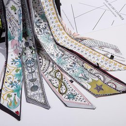 Canada Nouveau Design De Mode Tarot Ruban Femmes Scarlf Cravat Cheveux Accessoires Sac Accessoire Tarot Modèle Satin Bandeau Cheveux Offre
