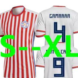 Wholesale green santa - Soccer Jersey Paraguay World Cup 2018 2019 GAMARRA SANTA CRUZ Gonzalez Miguel Almiron DUAETE Top Thailand National Home Football Shirt 18 19