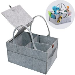 Wholesale fold change - Foldable Baby Diaper Caddy Organiser Removable Lid Storage Bag Kid Toys Portable Bag box for Car Travel Changing Table Organizer