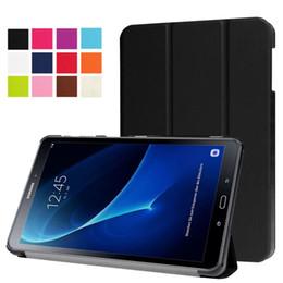Capas de couro galaxy s4 on-line-Dobrável de couro fólio tablet inteligente case para samsung galaxy tab s2 s3 s4 t580 t810 t550 p5200