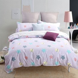 Bella biancheria da letto blu online-Kids Bedding set queen size Boy Girl Pink VS Bull dog Pug Blue Flamingo Starfish Star Cat Stripe Bellissimi fiori Animal double