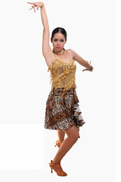 Wholesale Tango Dresses For Women - heap dress mirror Women's Vestidos Latin Dance Dresses For Sale Salsa Tango Standard Performance Costumes 2015 New Arrival Summer Factory...