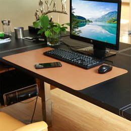 Wholesale Padded Laptop Desk - 780*395mm Mouse Pad Large Size PU Leather Desk Mouse Mat Business Office Home Table Pad for Laptop Keyboard