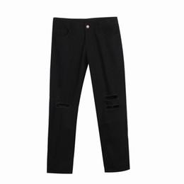 Wholesale Urban Hip Hop Jeans - Wholesale-CANIS Men Hole Twill calca jeans masculina Pants Urban Hip Hop Harem Casual jeans hombre Trousers Slim Fit Elastic