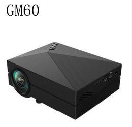 Wholesale Position Design - Portable Design GM60 LCD Projector 1000LM 800x480 Pixels 1080P USB HDMI VGA AV Connectivity Built-in HiFi Speaker Projector
