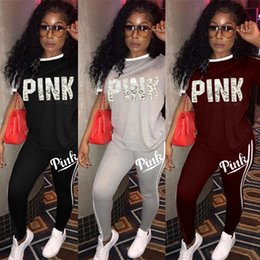 Wholesale Love Pink Shorts L - Women VS Love PINK Tracksuits Jogger PINK Letter Short Sleeve Tops T shirt Leggings Pants Sets Outfits Outwear Clothing Sweatsuit 3 colors