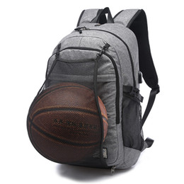 2019 ko Sport Rucksack Männer Laptop Rucksack Schultasche Für Teenager Jungen Fußball Ball Packsack Sporttaschen Männlichen Mit Fußball Basketball Net