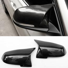 capas de espelhos de carbono Desconto Tampa do espelho de retrovisor da fibra do carbono do Sharp-angle cabida para BMW F20 F30 F32 F22