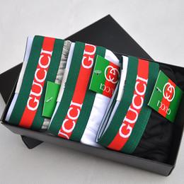 Wholesale boxer pants - Fashion Brand Men's Underwear Tide Male Pants Letter Cotton Plain Briefs For Boy Pure Color Quadrangle Underpants Boxers