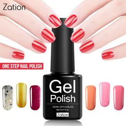 Um revestimento de esmalte de unha de gel on-line-Zation Gel Pintura UV Colorido One Step Nail Verniz Manicure Decoração 3 Em 1 Gel Polonês Sem Top Bace Casaco Nail Art Design