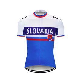 словакия Скидка 2017 Словакия Велоспорт Джерси велосипед одежда Тур де Франс велосипед одежда quick dry Мужская одежда с коротким рукавом рубашки лето mtb спорт Джерси