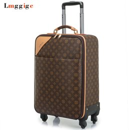 Wholesale 24 spinners - Women Luggage Travel Suitcase Bag with wheels ,Men PVC Commercial Box with Rolling