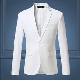 2018 Neue Ankunft Frühling Weiß Formale Kleid Blazer Männer Solide Slim Fit  Herren Blazer Jacke Lässig Sozialen Anzug Jacke e378748a71