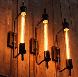 2019 iluminación de la fábrica de la vendimia American loft steam pipe Retro Lámpara de pared Espejo Fábrica de iluminación Estilo industrial Comedor Sala de estar Hotel Cafe Bar Light Vintage Wall iluminación de la fábrica de la vendimia baratos