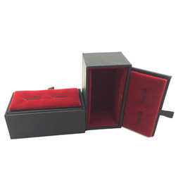 Wholesale Jewelry Displays For Earrings - Red Cufflink Show Case How Sales Cuff link Box Gift Cases for men Fashion Jewelry packaging & Display
