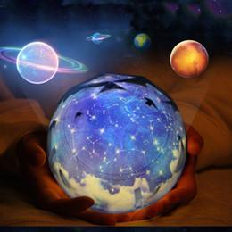 Estrellas giratorias luz nocturna online-Inteligencia Universo Lámpara de Proyección Atenuación Automática LED Luz Nocturna Romántica Estrella Cielo USB Recargable Girar Maestro Para Regalos 28ln ZZ