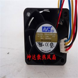 Wholesale avc fan cpu - aNS All New Semi CO Free Shipping AVC DB04028B12S P141 DC 12V 0.96A 40mm case Server cpu computer cooling fans cooler radiator