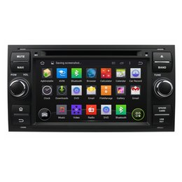 Wholesale Ford Focus Wheels - 2 DIN Quad Core 1024*600 HD Screen Android 7.1 Car DVD GPS Navigation Player for Ford FOCUS 2005-2007 Radio Wifi 4G steering wheel control
