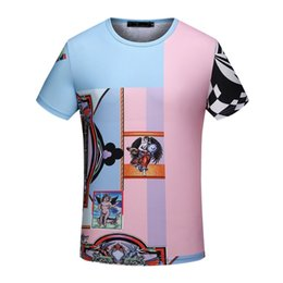Wholesale Short Sleeve Shirt Office - Summer comfortable Fit Mens T-Shirt Printed Office Men Cotton Tee Youth Hip Hop Sport Short sleeve T Shirts YV16813