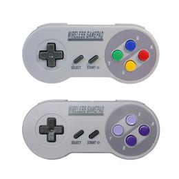 2.4 GHz Controlador Sem Fio Gamepad Joystick com Retro Receptor USB para Super NES SNES Edição Clássica Mini Joypad DHL EMS FRETE GRÁTIS de