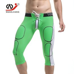 Wholesale Exercise Bicycles - WJ Brand Men's Tights Fitting Exercise Shorts Sports Fitness Slimming Cycling Shorts Bicycle Sweatpants Shapers Knee-length