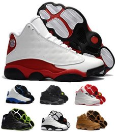 Wholesale Hot Pink Cat - Hot 13 Basketball Shoes Mens Women 13s XIII Red Chicago Black Cat Bred Hyper Royal DMP Altitude Wheat Game Barons Authentic Shoe Sneakers