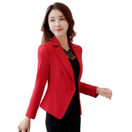 0da03c6a6015 Ladies Blazers and Coats Plus Size Office Wear Work Long Sleeve Black Red  Small Suit Bodycon Blazer Jackets Women Coat Female