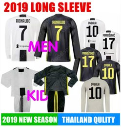 LONG SLEEVE 2019 Le Zebre MEN KID Kits RONALDO DYBALA HIGUAIN POGBA Soccer  Jersey Juve MARCHISIO MANDZUKIC BUFFON SHIRTS Football Calcio SS 8946077cf