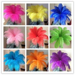 Wholesale feather centerpieces - Wholesale a lot 10-12inch   25-30cm beautiful ostrich feathers for Wedding centerpiece Table centerpieces Party Decoraction supply YM-00001