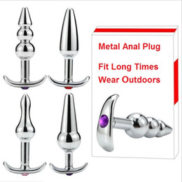 anus sex toy men Promo Codes - New Metal Stainless Steel Anal Plug Anus Beads Expander Stimulator Butt Plug Dilator Dildos Adult Masturbation Sex Toy For Couples Men Women