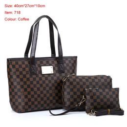 Wholesale Crochet Bags Purses - 2018 famous brand Designer fashion women luxury bags lady PU leather handbags brand bags purse shoulder tote Bag female handbags wallets A03